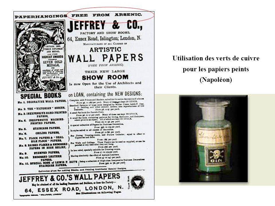 Utilisation des verts de cuivre pour les papiers peints (Napoléon)