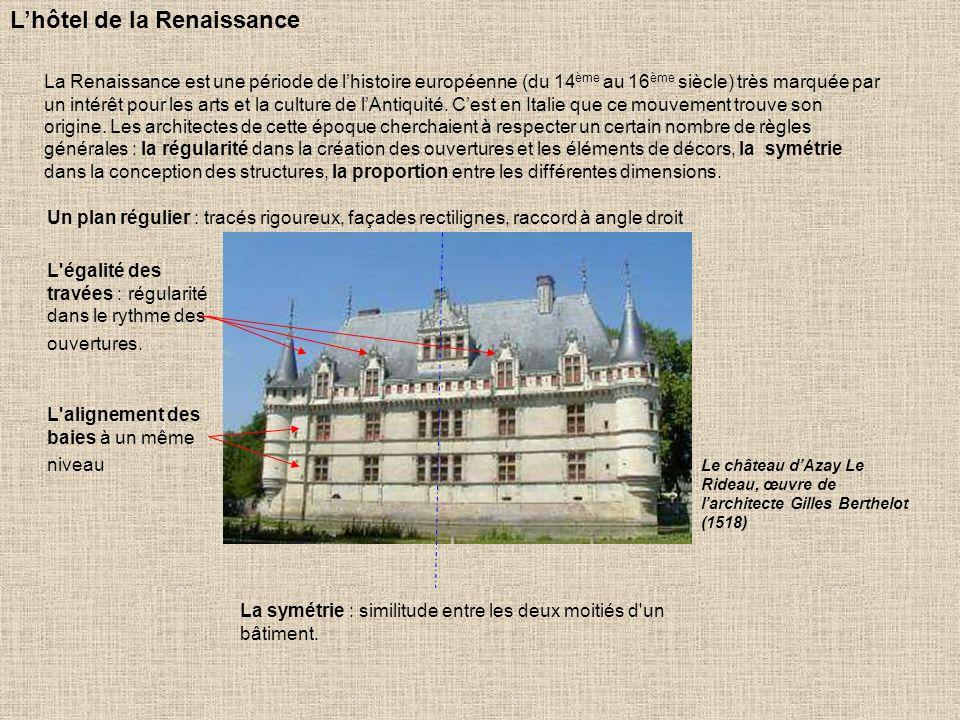 Cest à partir du 15 ème siècle et en particulier sous François 1 er (sacré roi en 1515) que linfluence italienne transforme lhabitat en France.