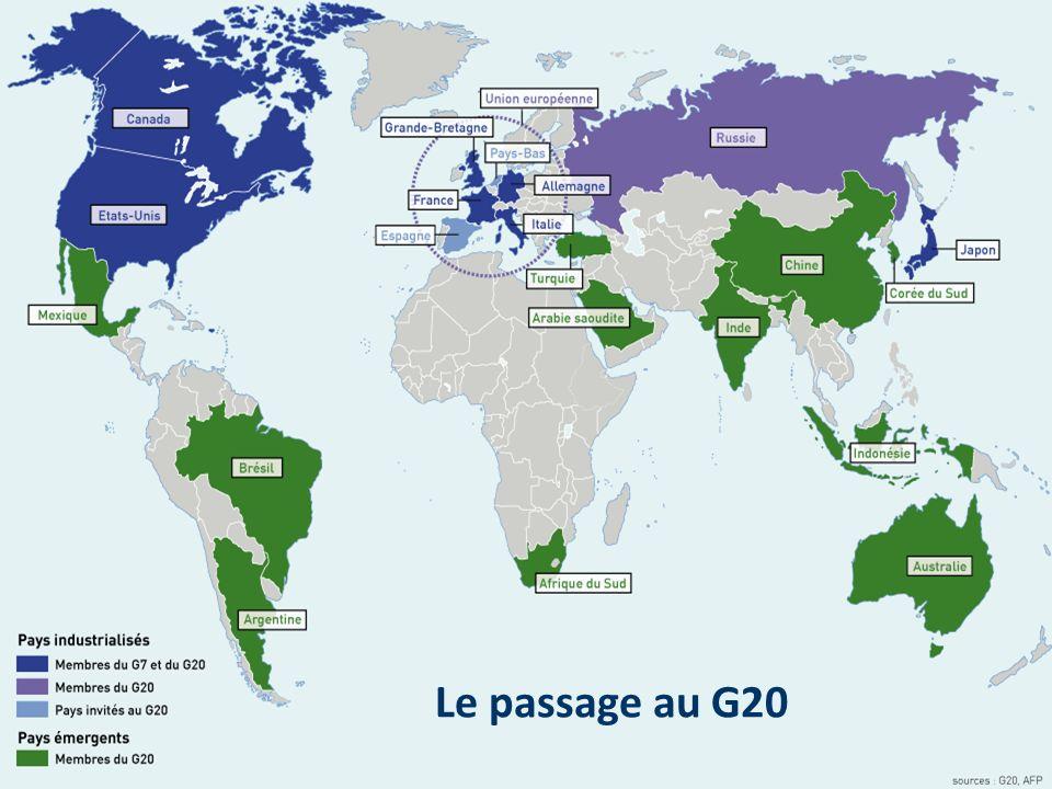 Le passage au G20