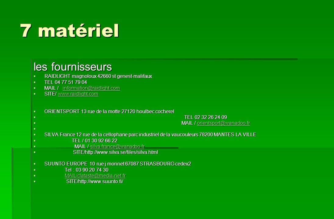 7 matériel les fournisseurs RAIDLIGHT magnoloux 42660 st genest-malifaux RAIDLIGHT magnoloux 42660 st genest-malifaux TEL 04 77 51 79 04 TEL 04 77 51