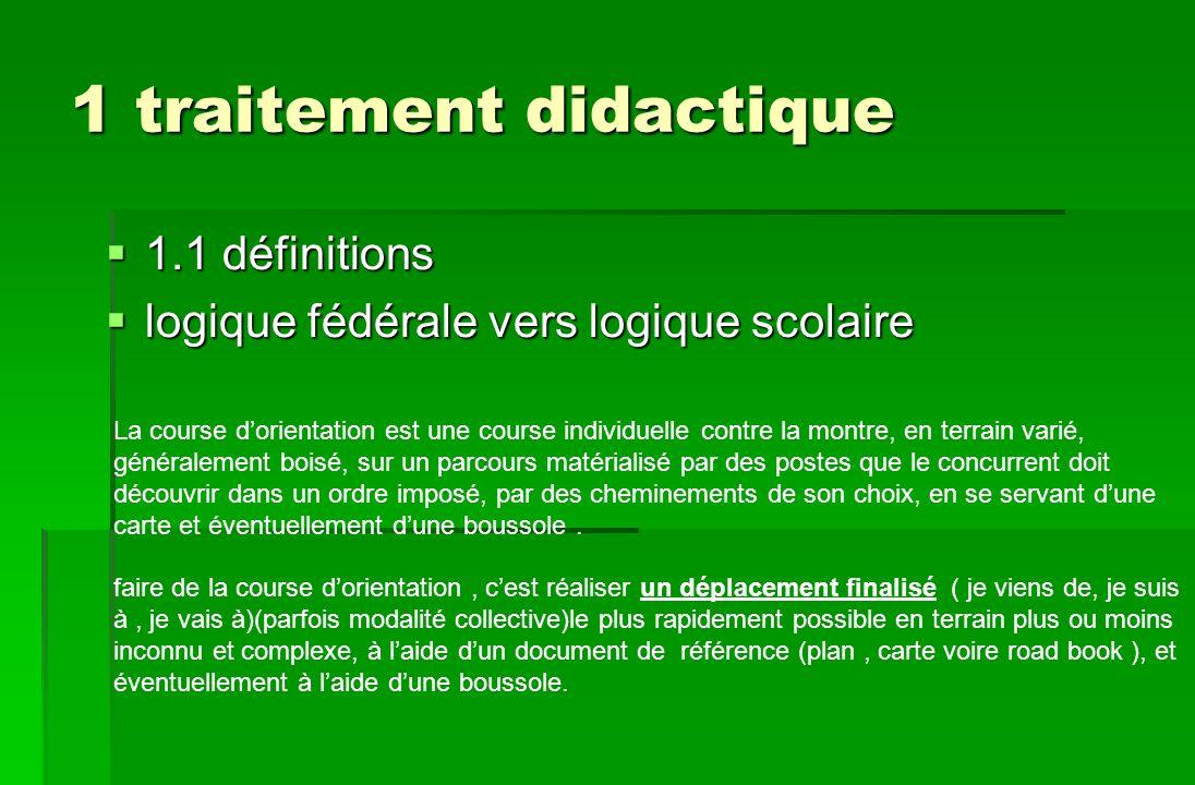 1 traitement didactique 1.1 définitions 1.1 définitions logique fédérale vers logique scolaire logique fédérale vers logique scolaire La course dorien