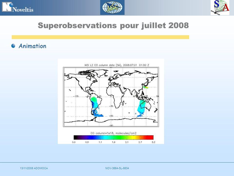 13/11/2008 ADOMOCANOV-3554-SL-6634 Superobservations pour juillet 2008 Animation