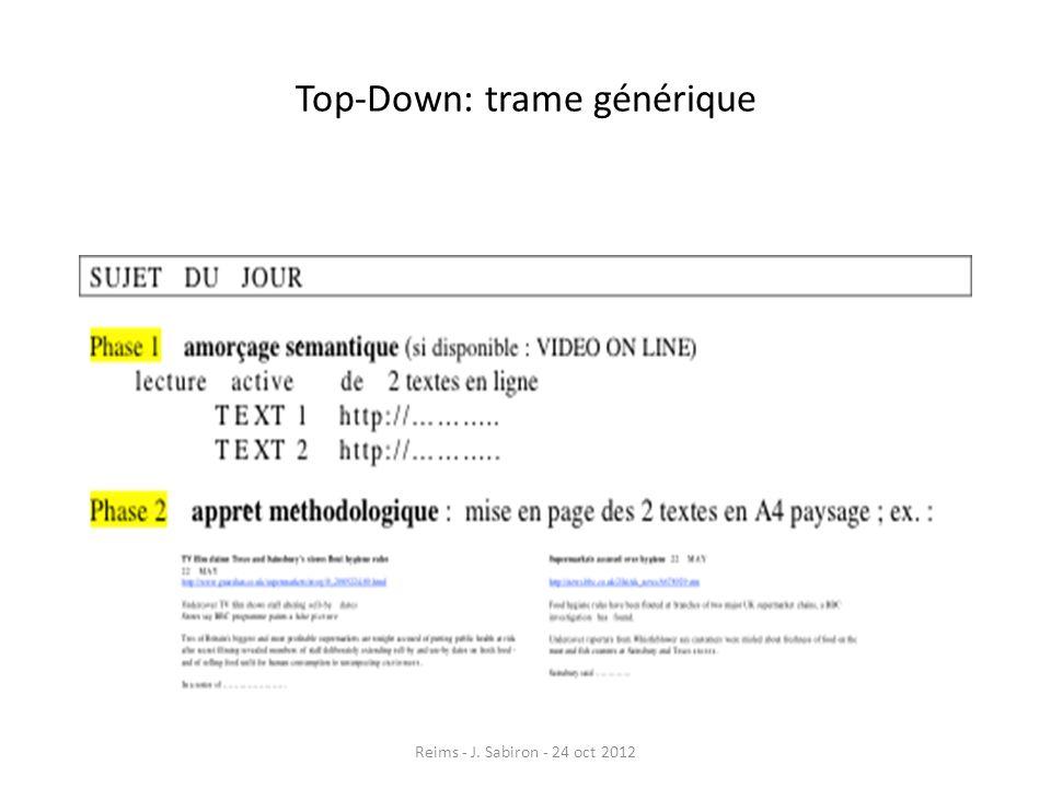 Top-Down: trame générique Reims - J. Sabiron - 24 oct 2012