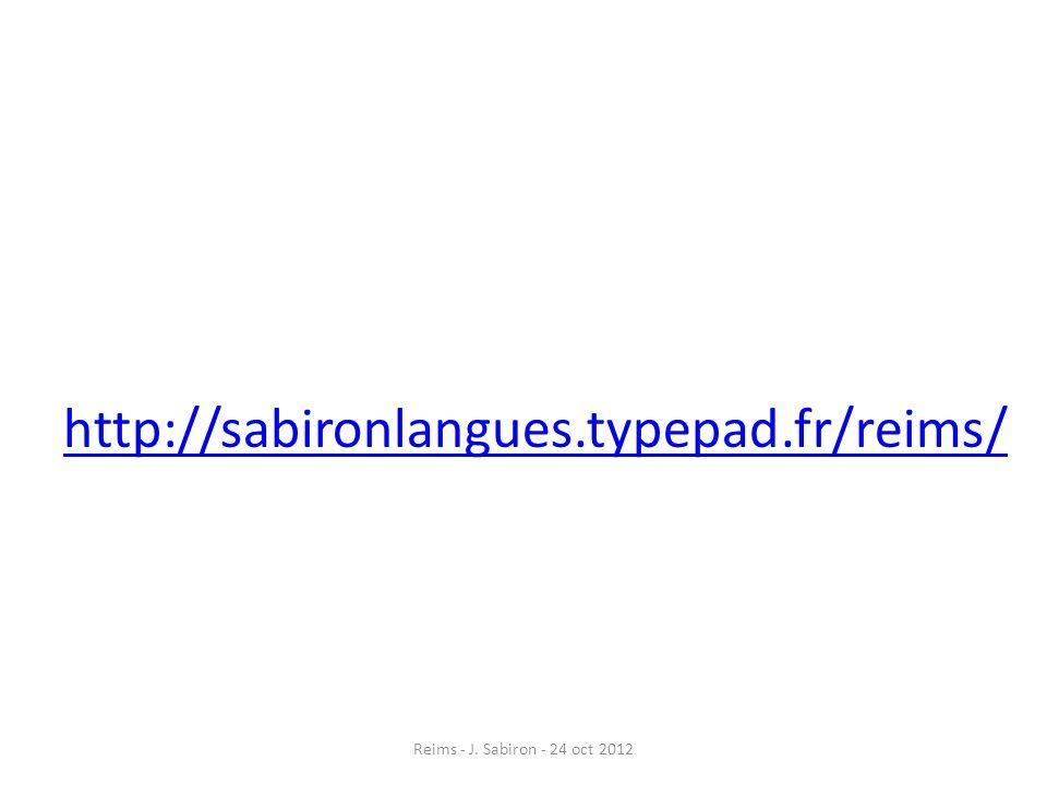 Tenir un discours de vérité Reims - J. Sabiron - 24 oct 2012