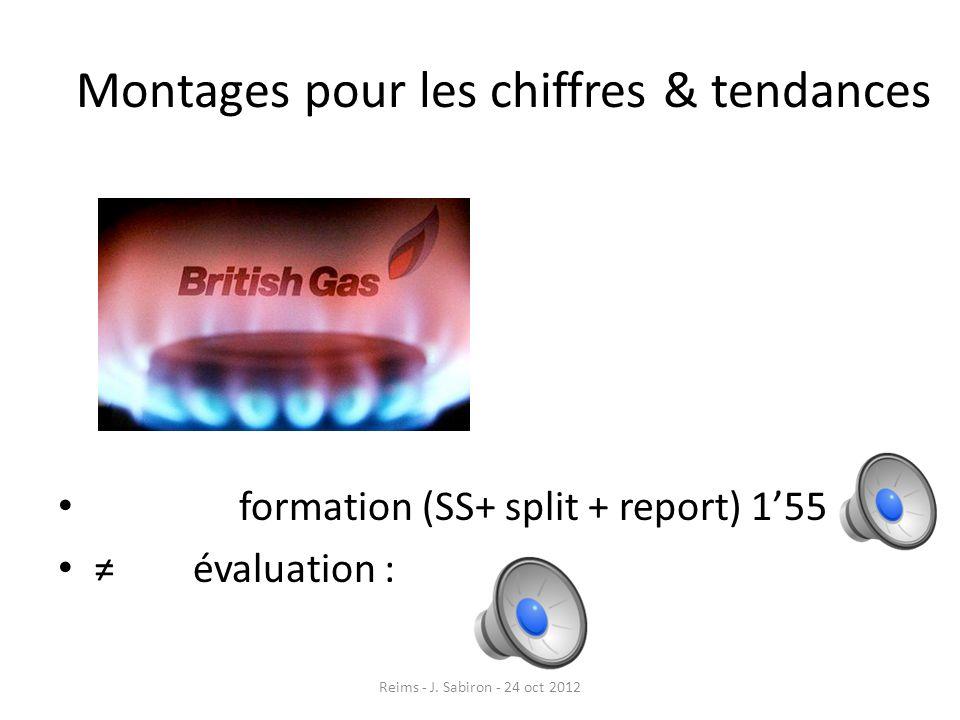 Montages pour les chiffres & tendances formation (SS+ split + report) 155 évaluation : Reims - J. Sabiron - 24 oct 2012