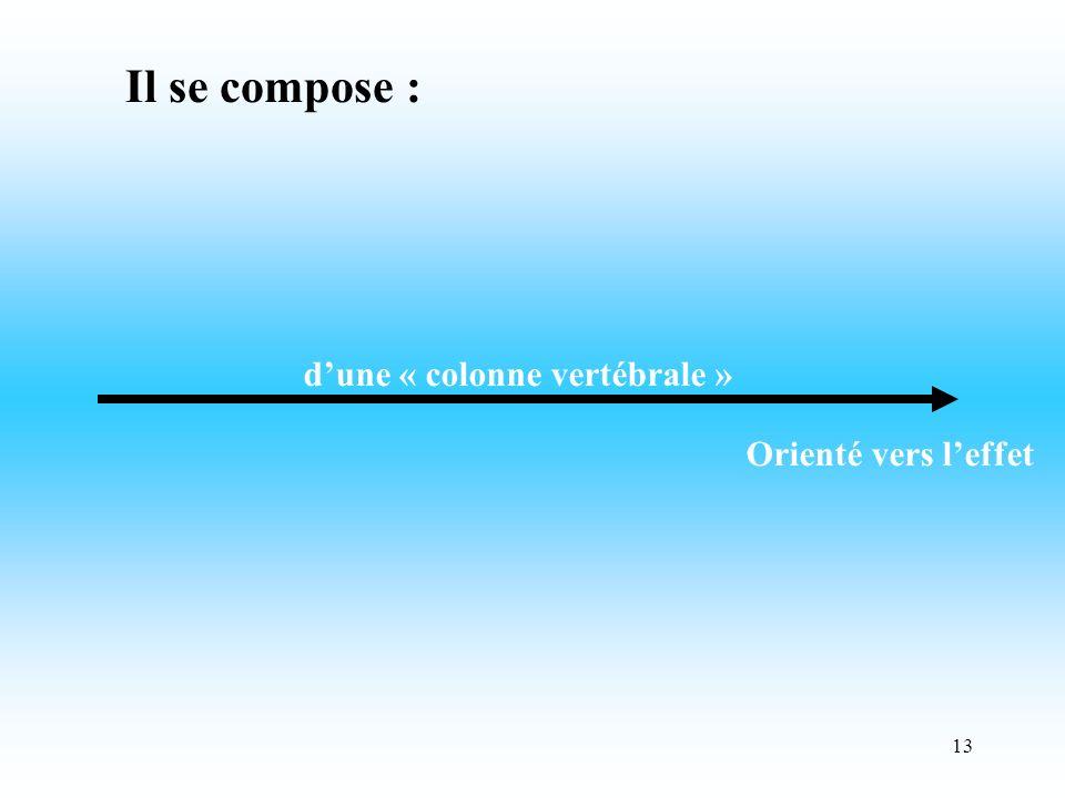 13 dune « colonne vertébrale » Orienté vers leffet Il se compose :