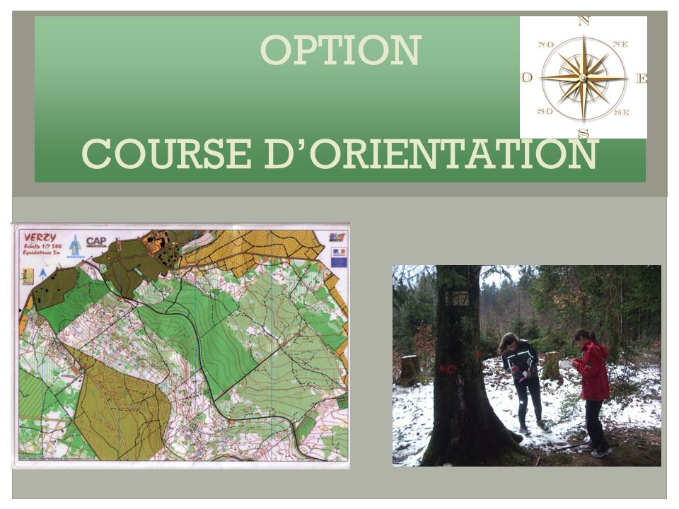 OPTION COURSE DORIENTATION
