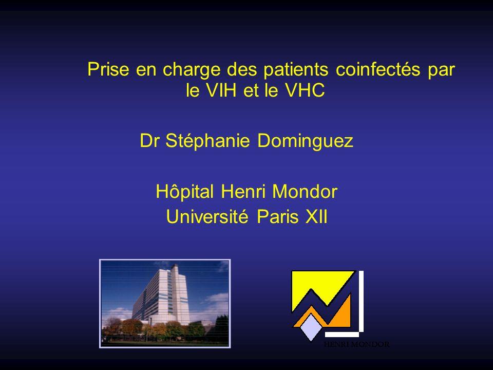 Prise en charge des patients coinfectés par le VIH et le VHC Dr Stéphanie Dominguez Hôpital Henri Mondor Université Paris XII