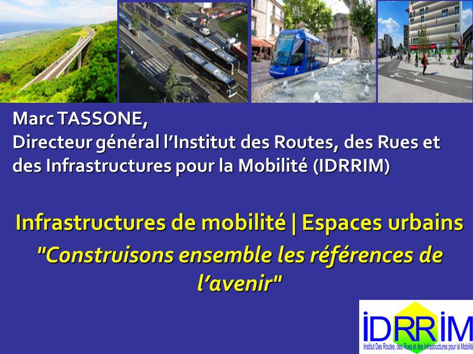 Marc TASSONE, Directeur général lInstitut des Routes, des Rues et des Infrastructures pour la Mobilité (IDRRIM) Infrastructures de mobilité | Espaces