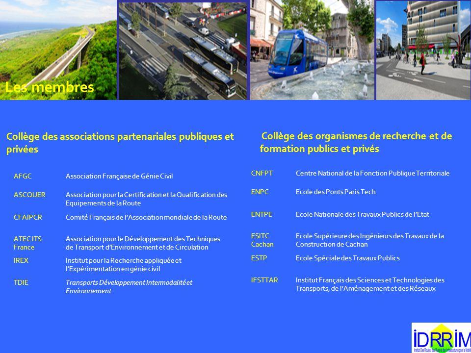Les membres Collège des associations partenariales publiques et privées Collège des organismes de recherche et de formation publics et privés AFGCAsso