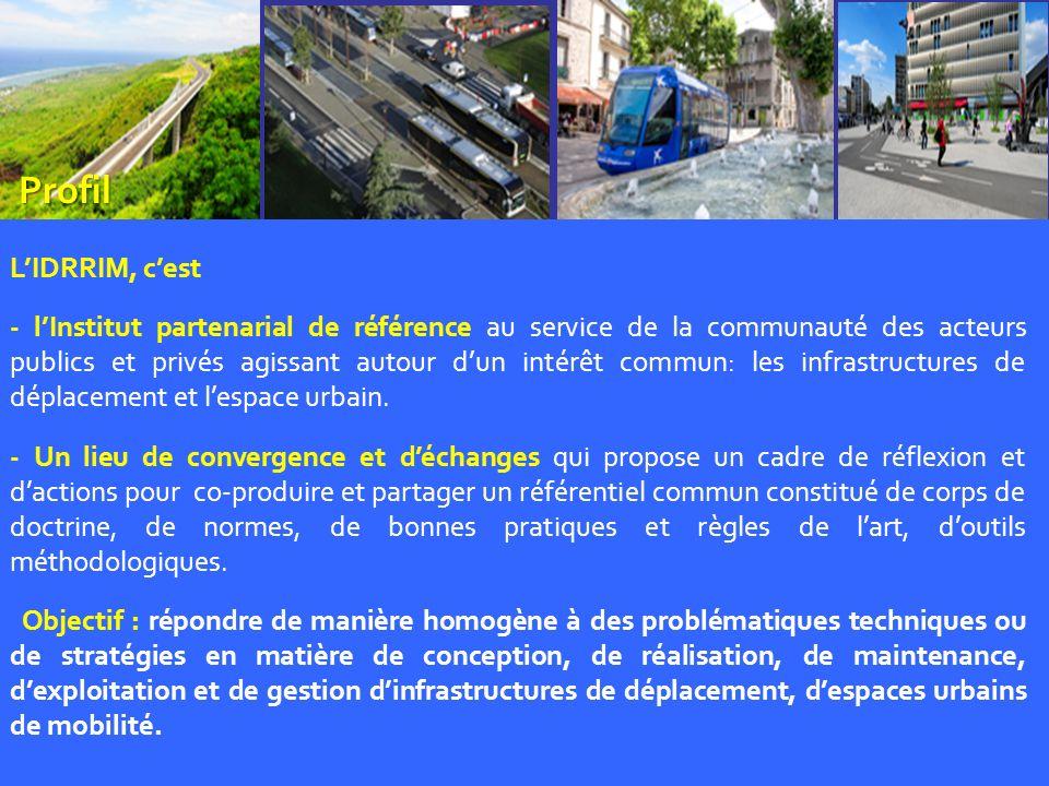 4 Missions 1- Contribuer au rapprochement de la communauté des acteurs publics et privés de la profession, les fédérer et les mobiliser autour dun intérêt commun: linfrastructure et lespace urbain.
