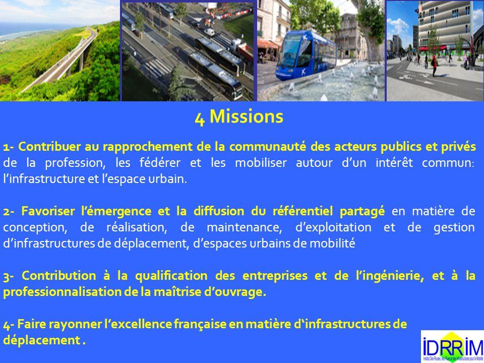 4 Missions 1- Contribuer au rapprochement de la communauté des acteurs publics et privés de la profession, les fédérer et les mobiliser autour dun int