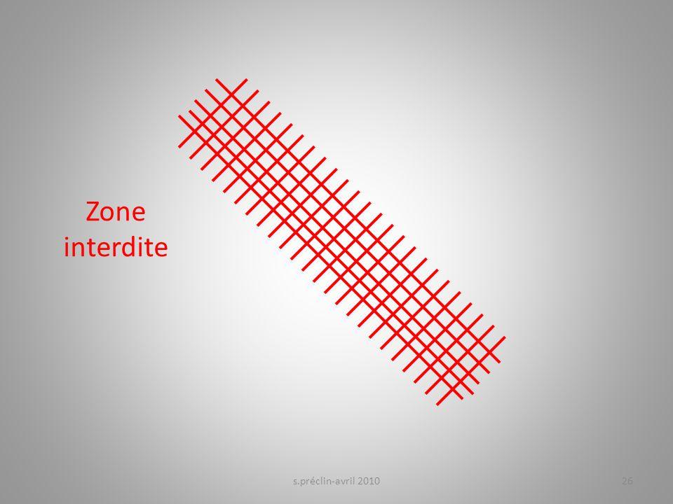 s.préclin-avril 201026 Zone interdite