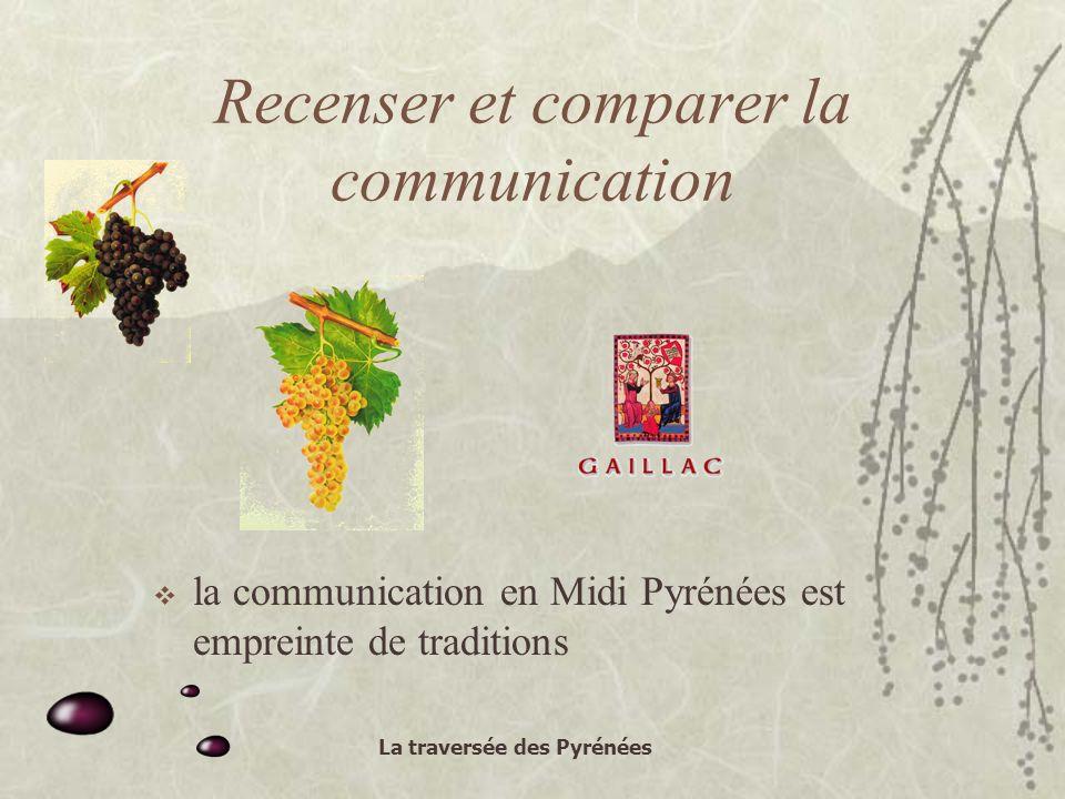 La traversée des Pyrénées Recenser et comparer la communication la communication en Midi Pyrénées est empreinte de traditions