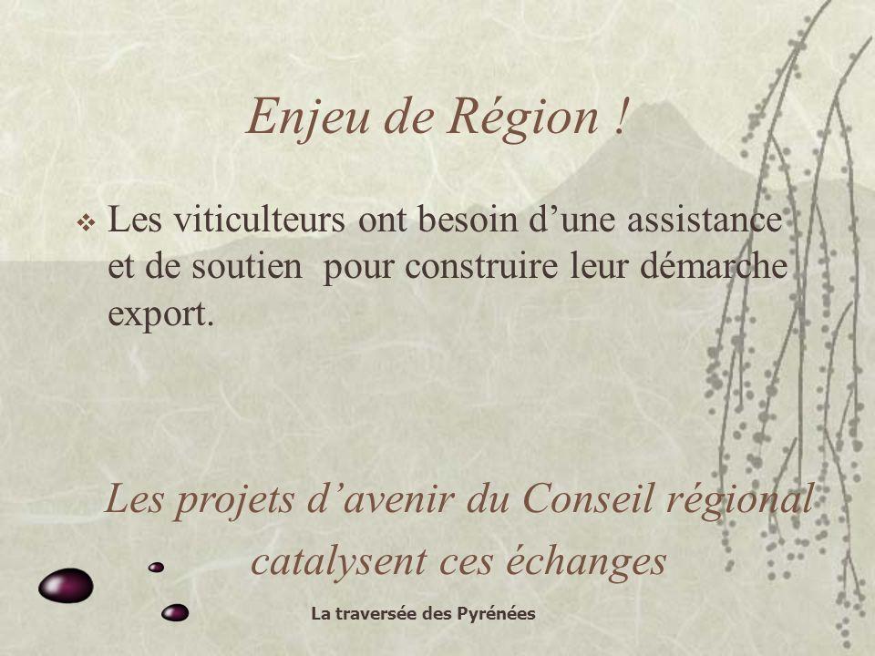 La traversée des Pyrénées Enjeu de Région .