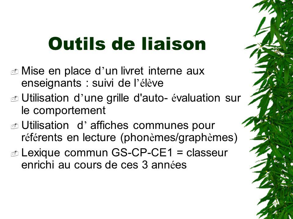 Liaison GS-CP-CE1 Exemple Circonscription Istres Objectif : augmenter le lexique