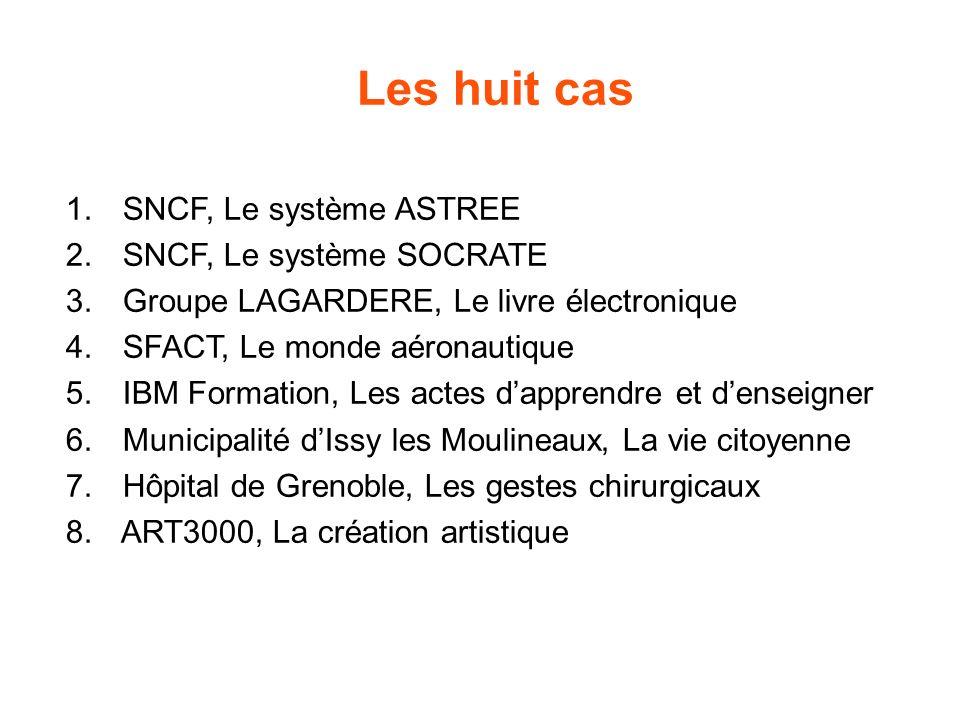Les huit cas 1. SNCF, Le système ASTREE 2. SNCF, Le système SOCRATE 3.