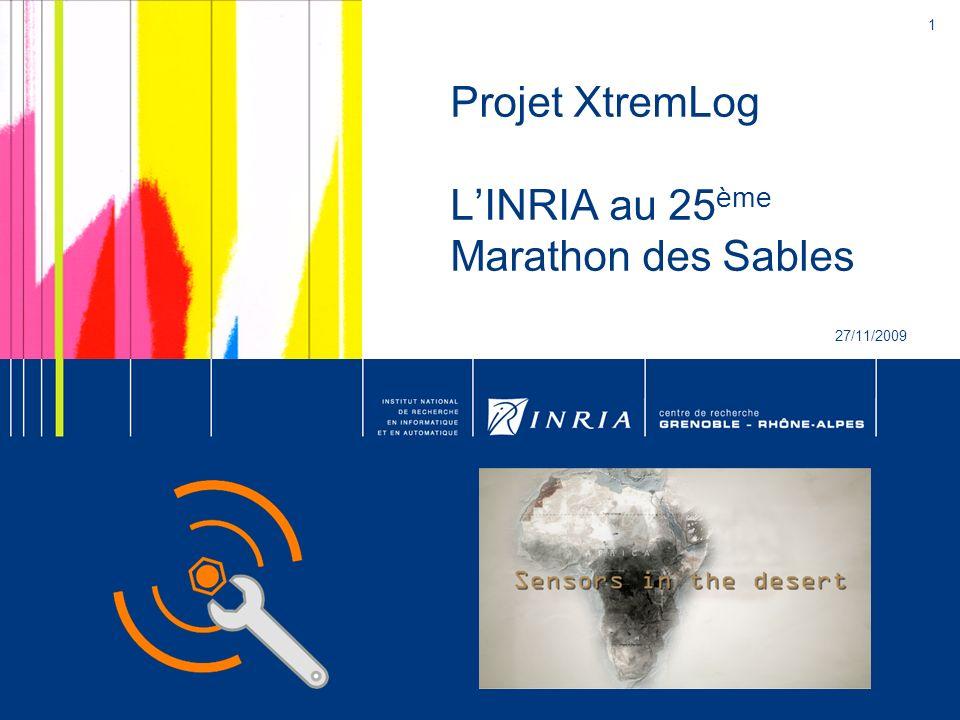 1 Projet XtremLog LINRIA au 25 ème Marathon des Sables 27/11/2009