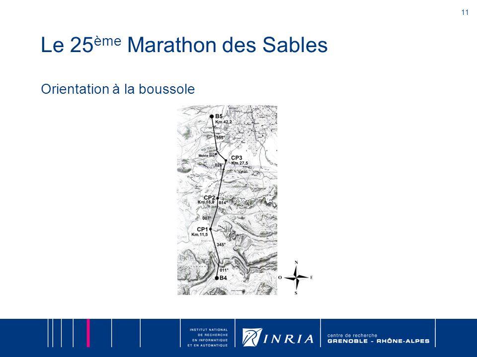 11 Le 25 ème Marathon des Sables Orientation à la boussole