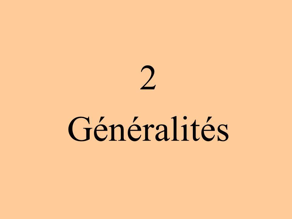 2 Généralités