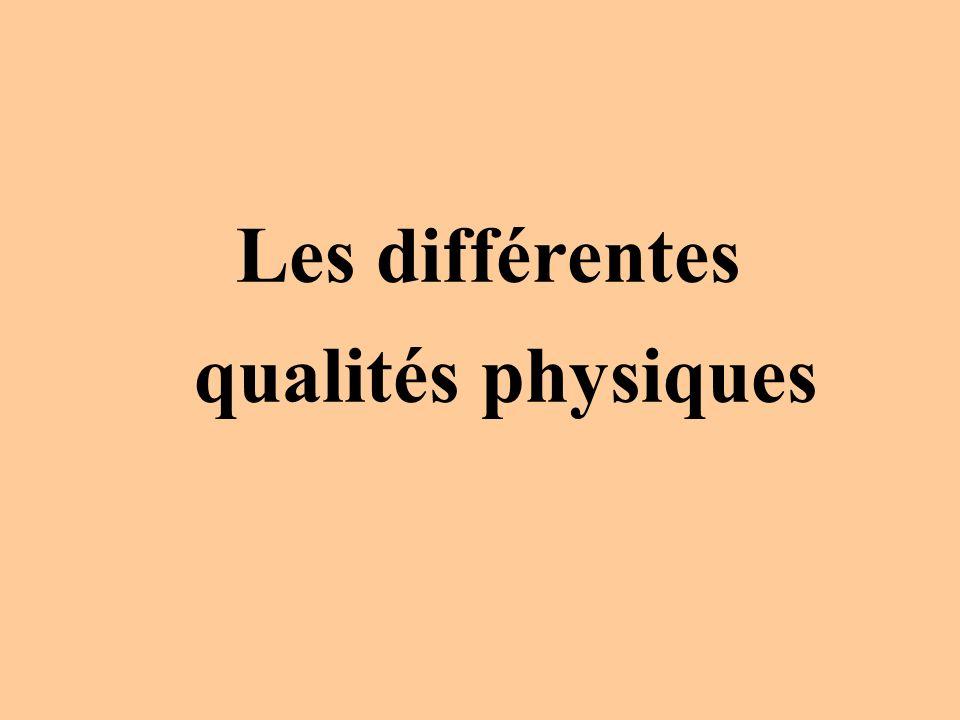 Les différentes qualités physiques