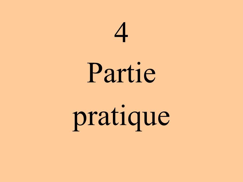 4 Partie pratique