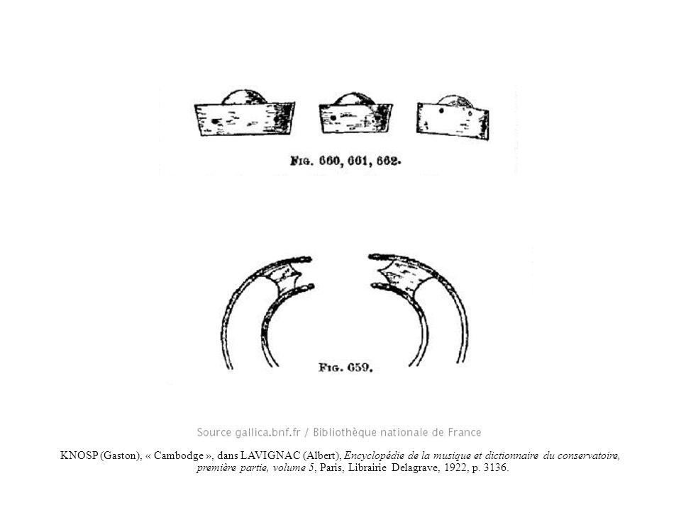 KNOSP (Gaston), « Cambodge », dans LAVIGNAC (Albert), Encyclopédie de la musique et dictionnaire du conservatoire, première partie, volume 5, Paris, L