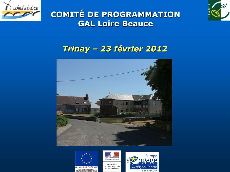 COMITÉ DE PROGRAMMATION GAL Loire Beauce Trinay – 23 février 2012