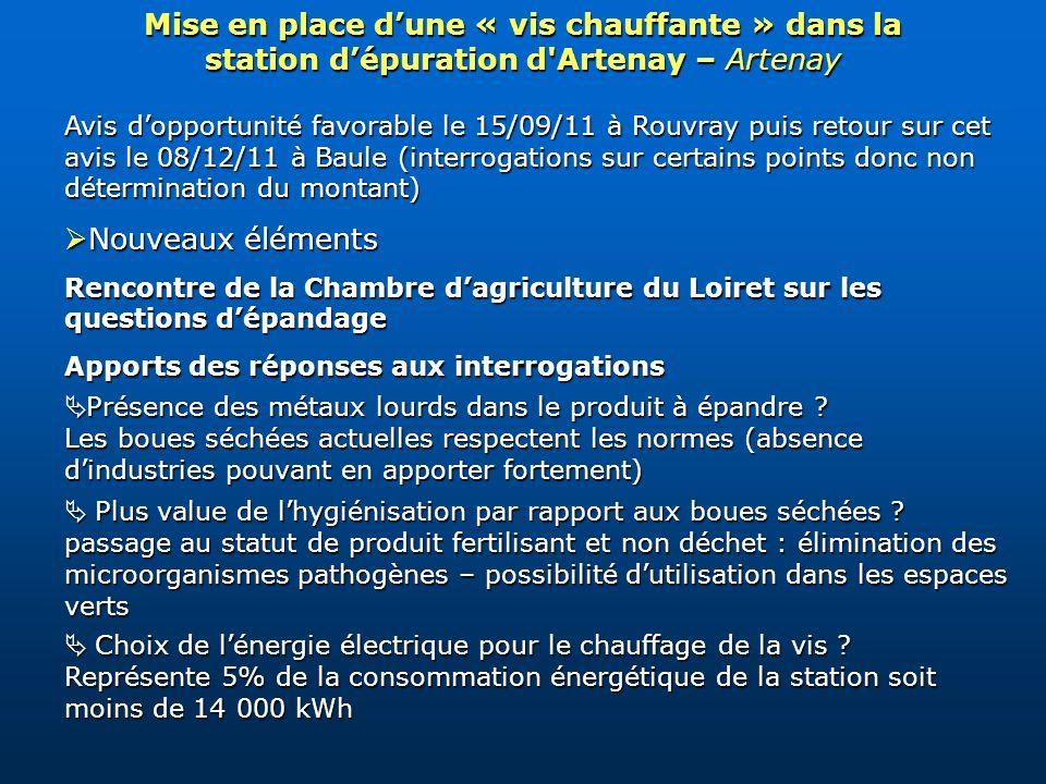 Avis dopportunité favorable le 15/09/11 à Rouvray puis retour sur cet avis le 08/12/11 à Baule (interrogations sur certains points donc non déterminat
