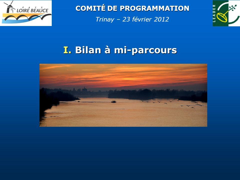COMITÉ DE PROGRAMMATION I. Bilan à mi-parcours Trinay – 23 février 2012