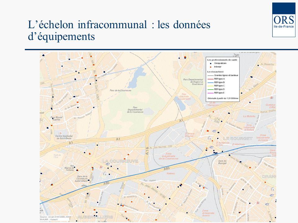 Léchelon infracommunal : les données déquipements