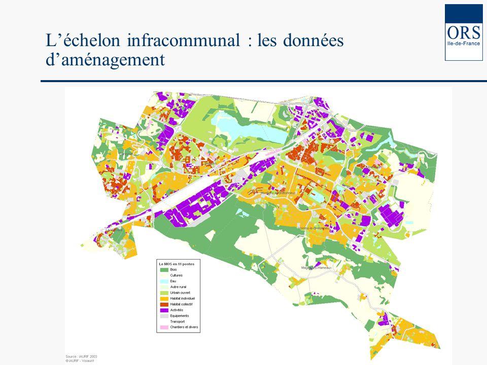 Léchelon infracommunal : les données daménagement