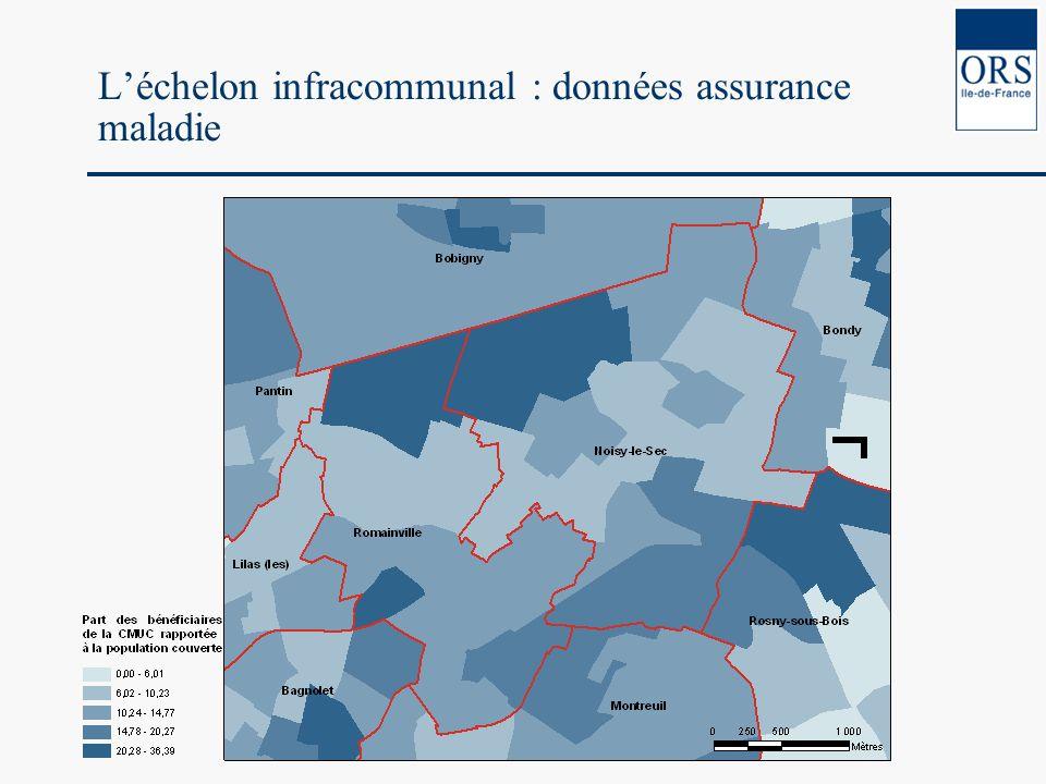 Léchelon infracommunal : données assurance maladie