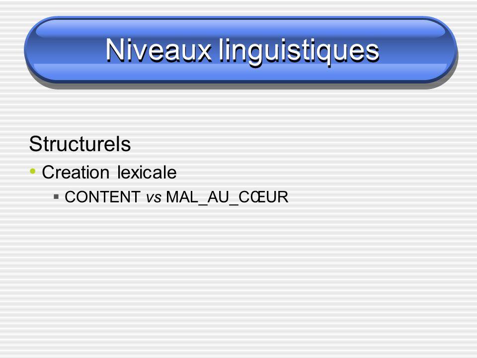 Niveaux linguistiques CONTENTMAL-AU-CŒUR