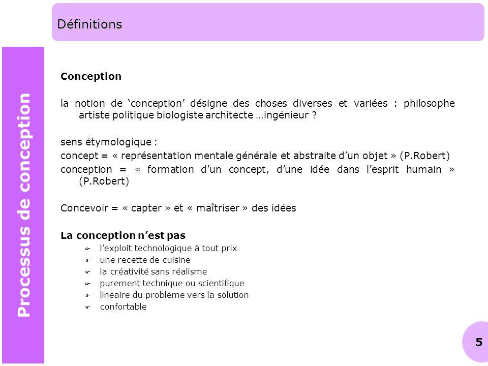 6 Rétroaction (feedback) La conception, une problématique de résolution de problèmes, avec une boucle de rétroaction Analyse (divergence) Synthèse (convergence) ProblèmeRésultat Processus de conception