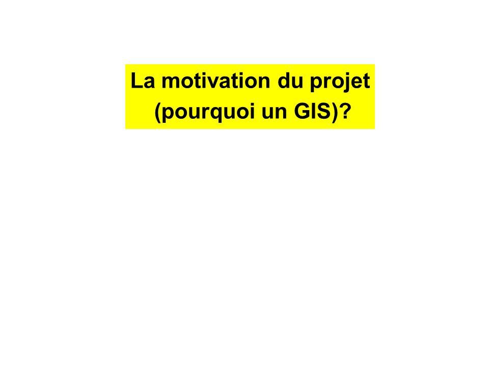 La motivation du projet (pourquoi un GIS)?