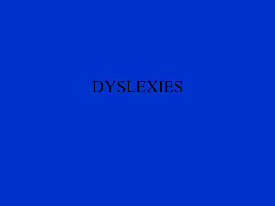DYSLEXIES