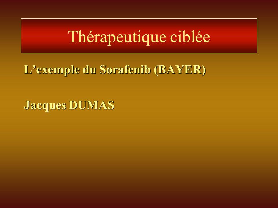 Thérapeutique ciblée Lexemple du Sorafenib (BAYER) Jacques DUMAS