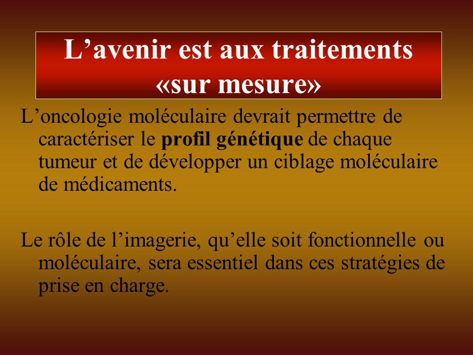 Lavenir est aux traitements «sur mesure» Loncologie moléculaire devrait permettre de caractériser le profil génétique de chaque tumeur et de développe
