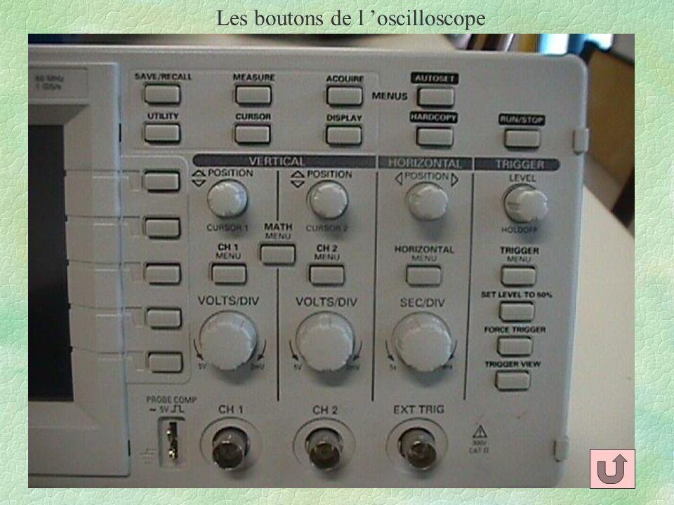 Les boutons de l oscilloscope