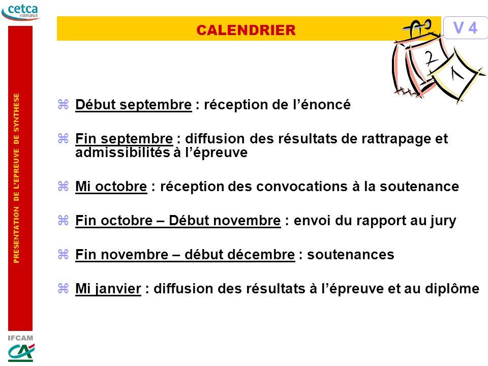 PRESENTATION DE LEPREUVE DE SYNTHESE zDébut septembre : réception de lénoncé zFin septembre : diffusion des résultats de rattrapage et admissibilités