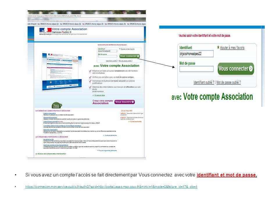 Si vous avez un compte laccès se fait directement par Vous connectez avec votre identifiant et mot de passe. https://connexion.mon.service-public.fr/a