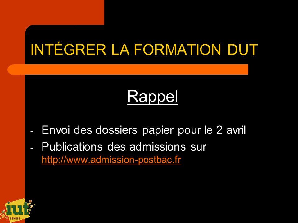 Rappel - Envoi des dossiers papier pour le 2 avril - Publications des admissions sur http://www.admission-postbac.fr http://www.admission-postbac.fr