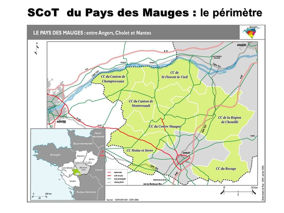 SCoT du Pays des Mauges : le périmètre