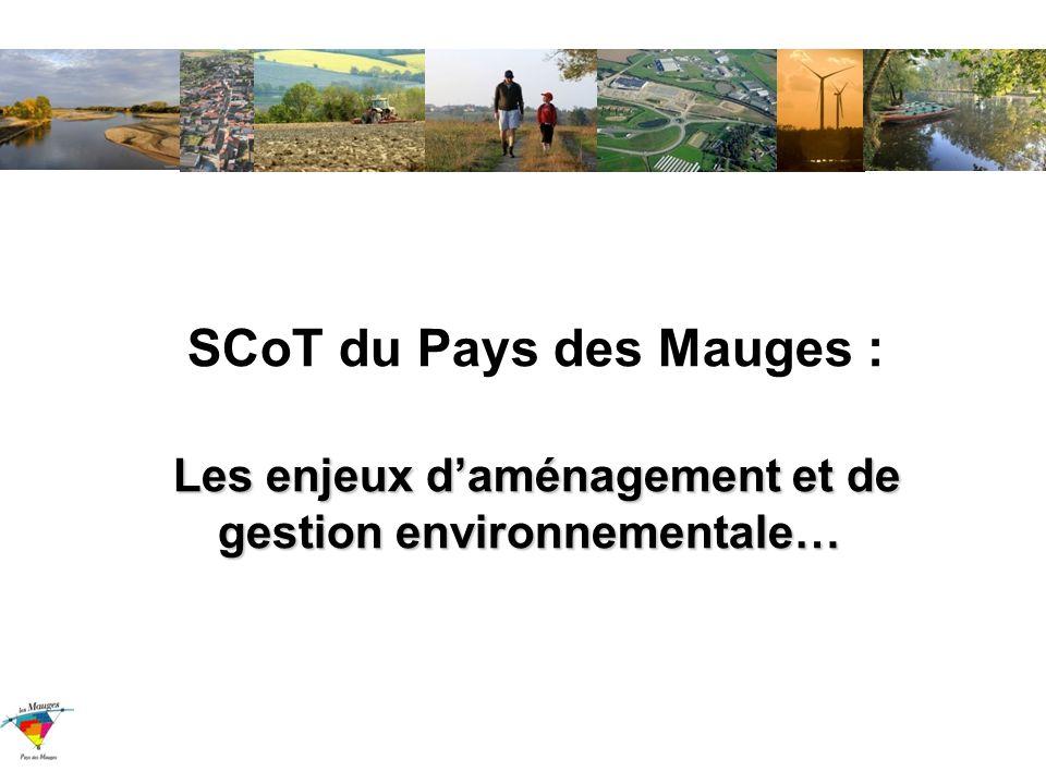Les enjeux daménagement et de gestion environnementale… SCoT du Pays des Mauges : Les enjeux daménagement et de gestion environnementale…