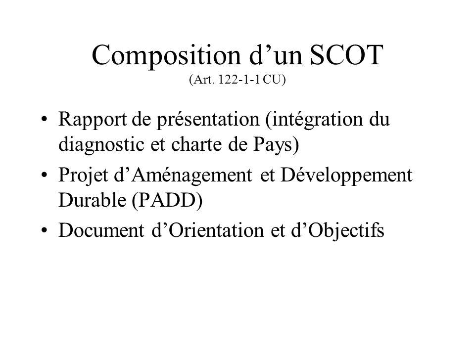 Composition dun SCOT (Art.
