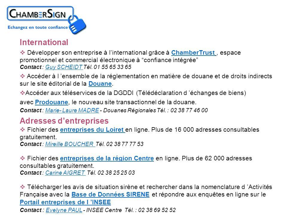 Adresses dentreprises Fichier des entreprises du Loiret en ligne. Plus de 16 000 adresses consultables gratuitement. Contact : Mireille BOUCHER Tél. 0