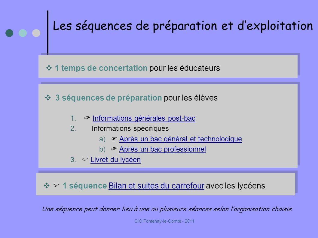 Les séquences de préparation et dexploitation 3 séquences de préparation pour les élèves 1.