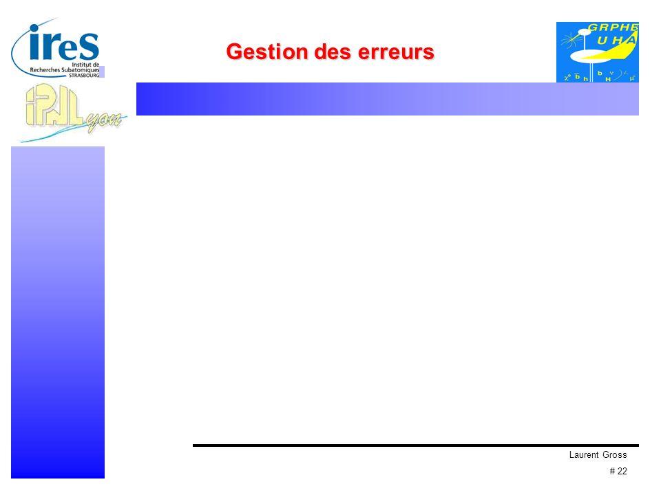 Laurent Gross # 22 Gestion des erreurs