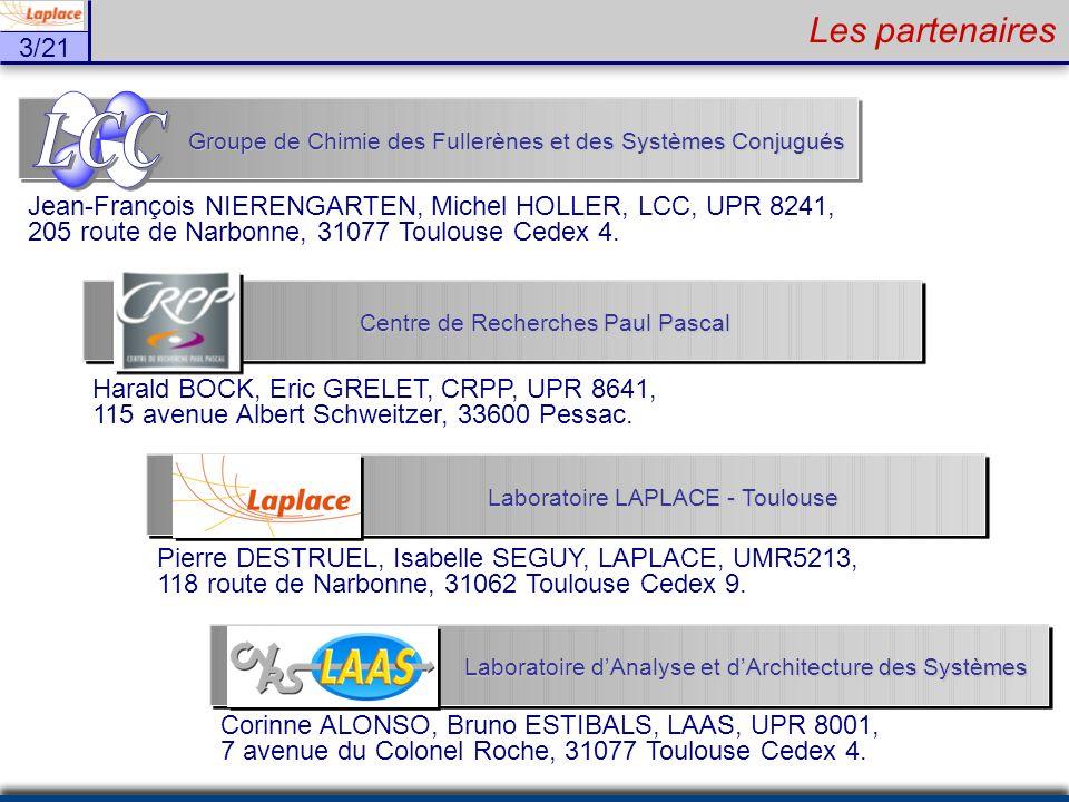 3/21 Les partenaires Harald BOCK, Eric GRELET, CRPP, UPR 8641, 115 avenue Albert Schweitzer, 33600 Pessac. Centre de Recherches Paul Pascal Groupe de